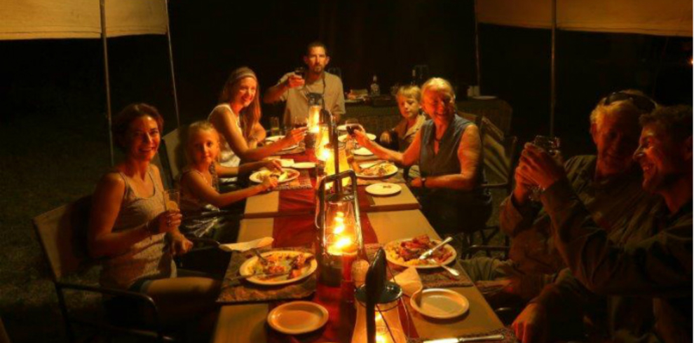 Grant Reed – Letaka Safaris – Tour – Dinner – Blue Sky Wildlife