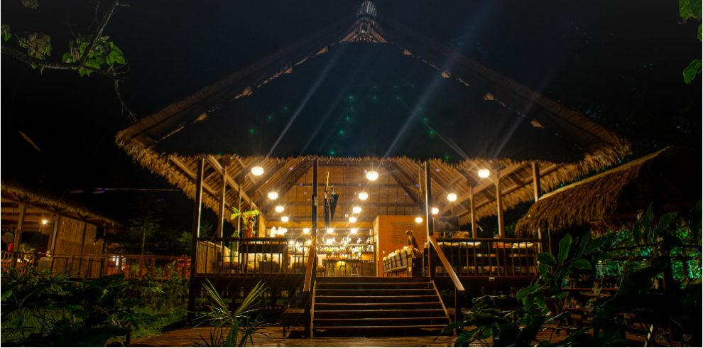 Rainforest Expeditions - Tambopata Research Center - Entrance at night
