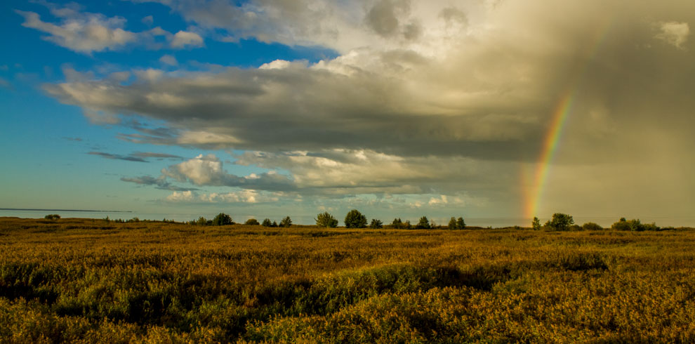 Triple Rainbow at Rusne Island at Nemunas Delta Lithuania